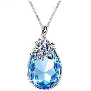 Beautiful blue Swarovski necklace comes in  box